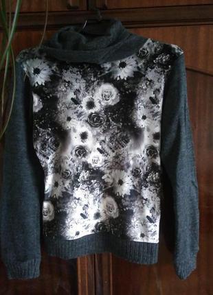 Оригинальная кофточка свитер с красивым рисунком турция