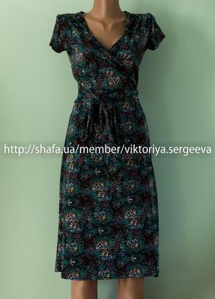 Большой выбор платьев - актуальное платье миди на запах, платье-халат