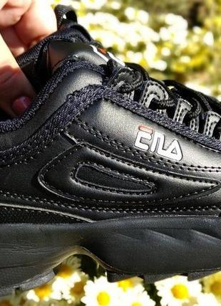 Черные кроссовки на массивной подошве фила. 36.37.38.39.40.41.