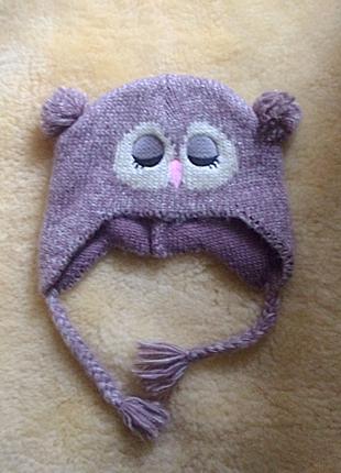 Тепла  шапочка із вушками