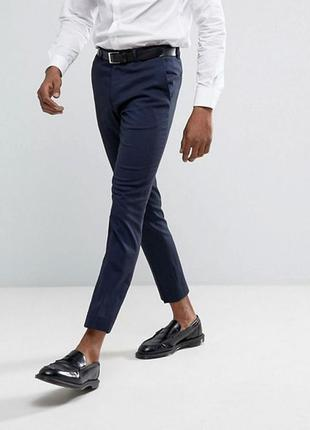 Мужские хлопковые брюки зауженые к низу от river island