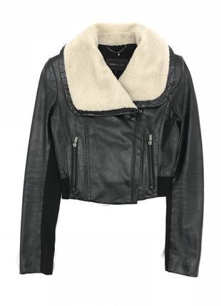 Клёвая куртка косуха 100% кожа