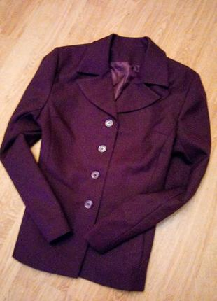 Бордо пиджак марсала классический