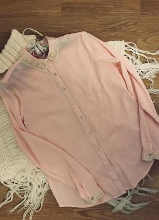 Пудровая блуза от colin's