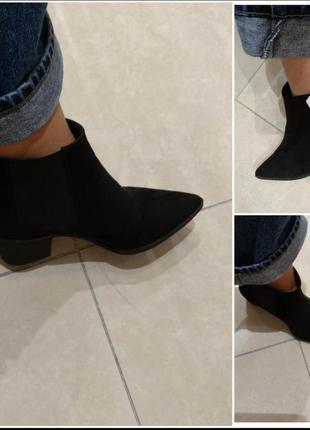 Новые чёрные ботинки челси козаки h&m 37 и 40 размер2