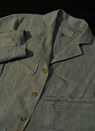 Etro льняной блейзер куртка пиджак жакет