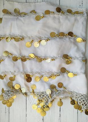Пояс платок монеты для восточных танцев belly dance