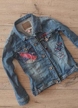Стильный джинсовый пиджак маркс спенсер  m&s indigo 5-6 лет 116 см