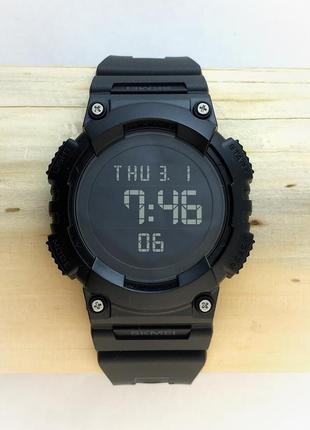 Часы черные skmei 1248 🔥🔥🔥 . стильные спортивные часы. гарантия ❗️