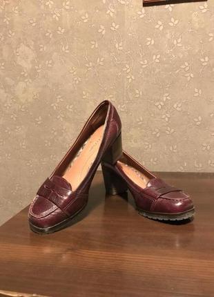 Супер удобные туфли кожа