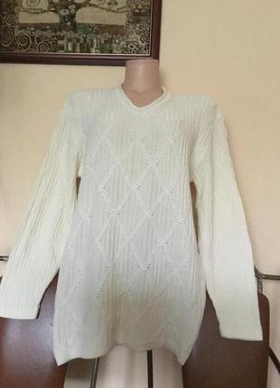 Фирменный итальянский свитер джемпер реглан р. м-хл