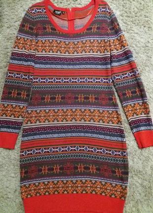 Теплое платье 36-38р.