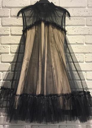 Шикарное фатиновое платье2