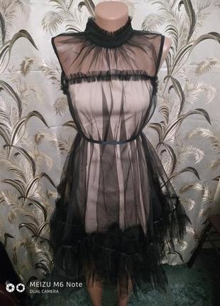 Шикарное фатиновое платье3