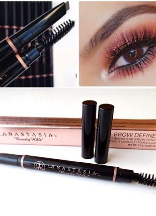 Карандаш для бровей аnastasia beverly hills brow definer triangular medium brown