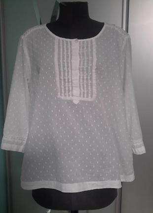 Нежная блузка/рубашка прошва 16/18 размер