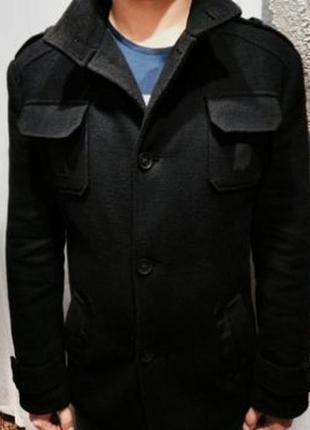 Кашемировое классическое пальто, размер 50.