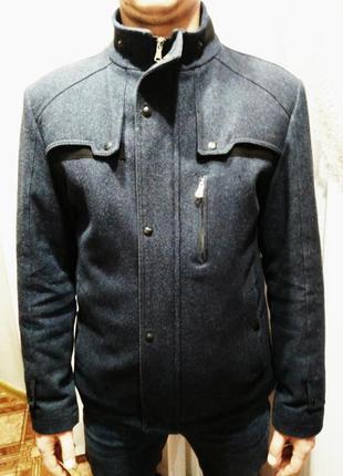 Шерстяное зимнее пальто, размер 50-52.