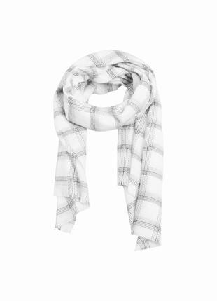 Большой тёплый шарф палантин как хомут