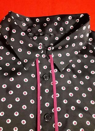 Атласная рубашка для сна m&s с длинным рукавом