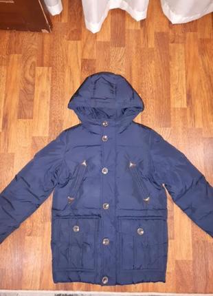 Удлиненное пальто пуховик benetton 130