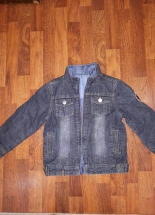 Утепленные джинсовый пиджак george 122cm