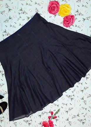 Акция 1+1=3 стильная джинсовая юбка marks&spencer, миди, размер 54 - 56