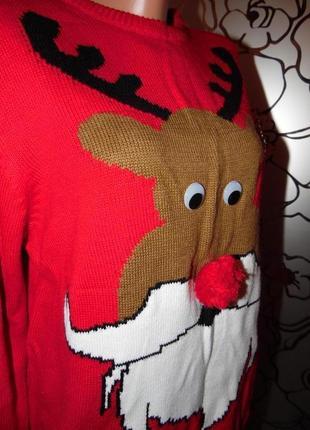 Эти глазки и носик.... новогодний свитер с оленем