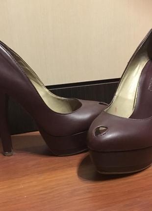 Туфли цвета марсала michael antonio