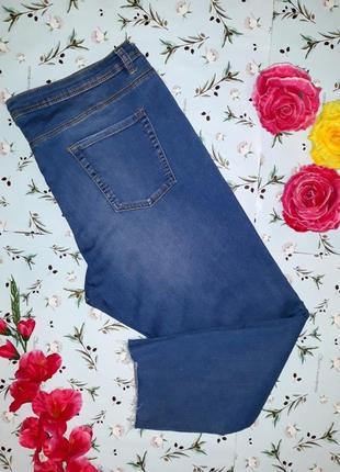 Стильные джинсовые бриджи с высокой посадкой denim co, размер 56-58, большой размер