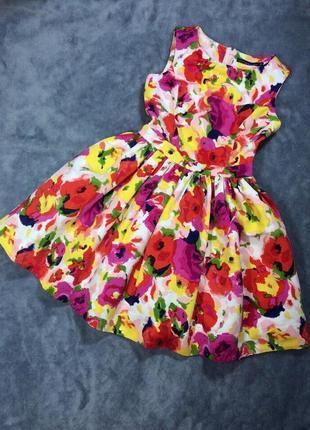 Пышное платье цветы