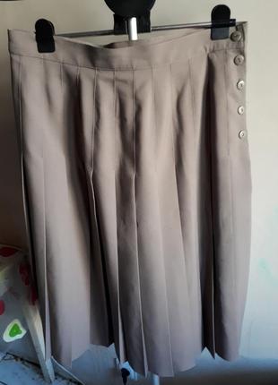 Стильная юбка миди плиссе
