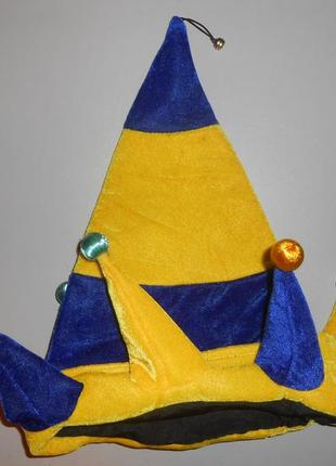 Колпак шут клоун петрушка шапка, новогодний костюм1