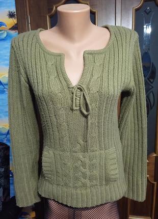 В'язана тепла кофта светр вязаная теплая кофта свитер
