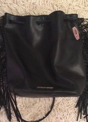 Victoria's secret рюкзак с бахромой