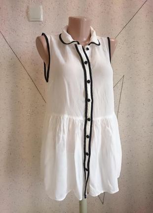 Красивая блуза c баской 14-16