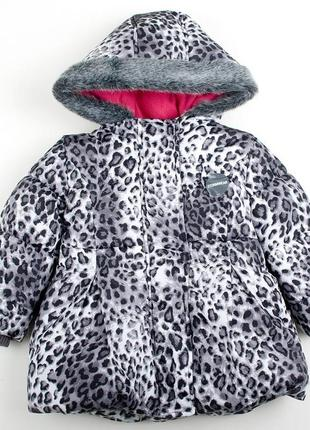 "Куртка теплая marks&spencer ""серебристая рысь"" для девочки"