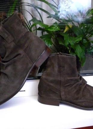 """Редкие стильные и очень мягкие замшевые ботинки """"jones bootmaker"""", англия!!! 43 р."""