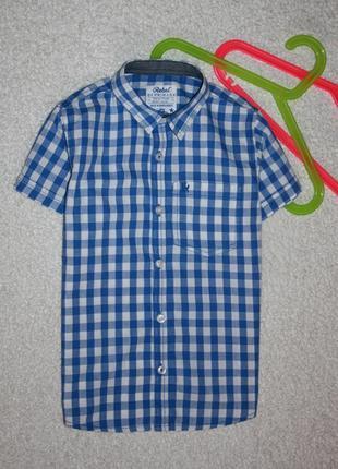 Нарядная тениска в клетку на мальчика