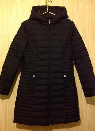 Пальто пуховик с капюшоном colin's
