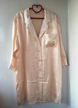 Домашнее платье рубаха шелковый халат, натуральный шёлк, домашняя одежда