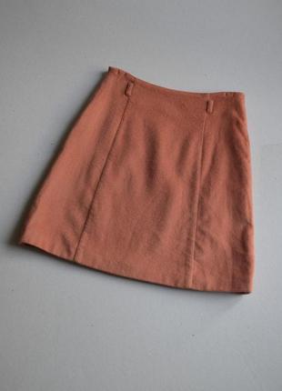 Тёплая юбка трапеция  р.s  шерсть  кашемир cacharel (made in france)