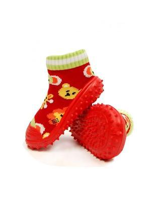 Носки-тапочки сафари, 6мес,bobobaby, pb-abs