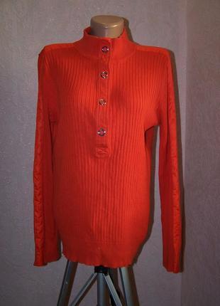 Оранжевый свитер на кнопках ralph lauren 100%котон пог-42см+