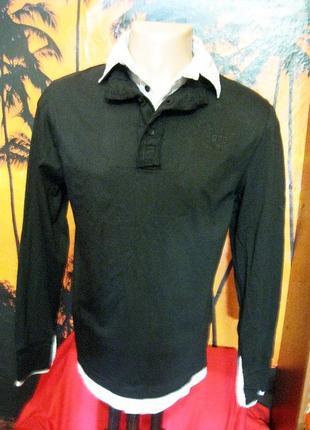 Okay(бангладеш) хлопковый худи поло с имитацией внутри рубашки
