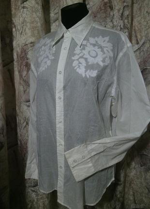 Фирмен.рубашка angelo litrico германия, 100%батист, xl/43-44 по вороту.