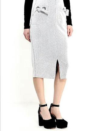 Базовая юбка резинка миди