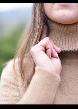 Теплый мягкий гольф свитер