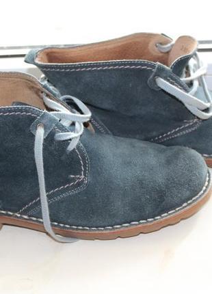 Ботинки челси полуботинки натуральная замша