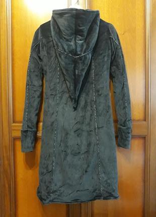 Vishes необычное бархатное#велюровое пальто#куртка# этно#бохо#спортивный#готический стиль.